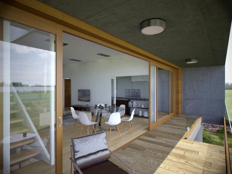 Urb brego n a coru a aestudio arquitectos coru a - Puertas para porches ...