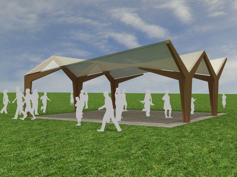 Carpa de lona aestudio arquitectos coru a for Lonas para cubiertas