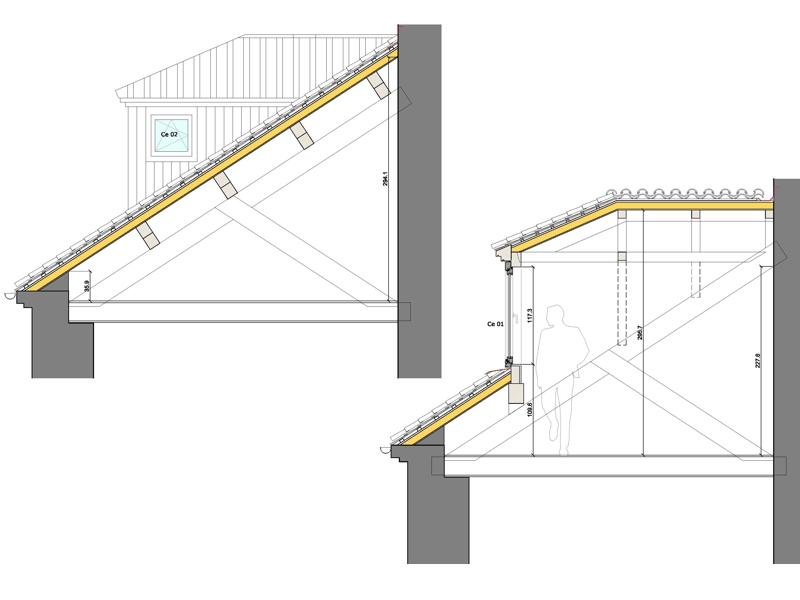 Rectoral carballi o aestudio arquitectos coru a for Imagenes de tejados de madera
